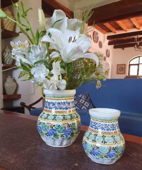 mexican ceramic mexican potttery folk art talavera Gorky Gonzalez Mexican Pottery Pots<br>and<br>Flower Vases