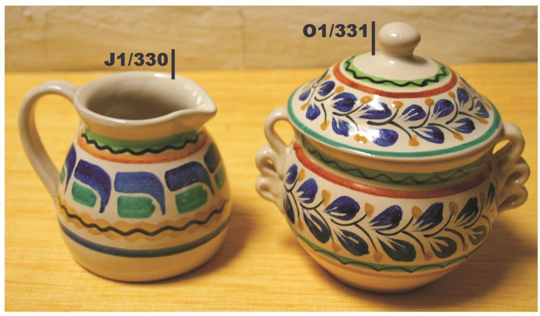 mexican ceramic mexican potttery folk art talavera Gorky Gonzalez Sugar & Cream Set