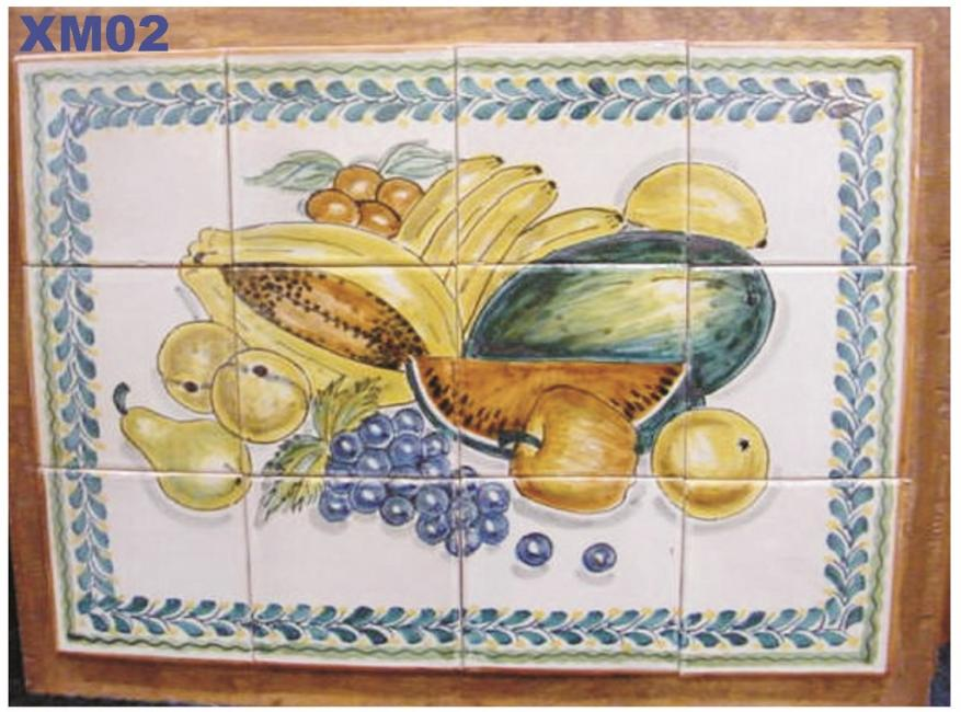 Gorky Gonzalez / GorkyPottery Fruits<br>Wall of Tiles
