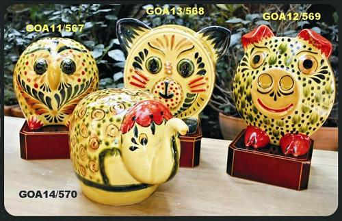 Gorky Gonzalez / GorkyPottery Yellow Animals Bank