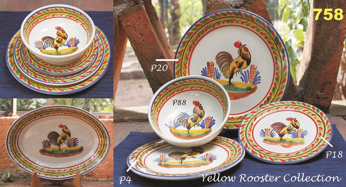 mexican ceramic mexican potttery folk art talavera Gorky Gonzalez Yellow Rooster Collection