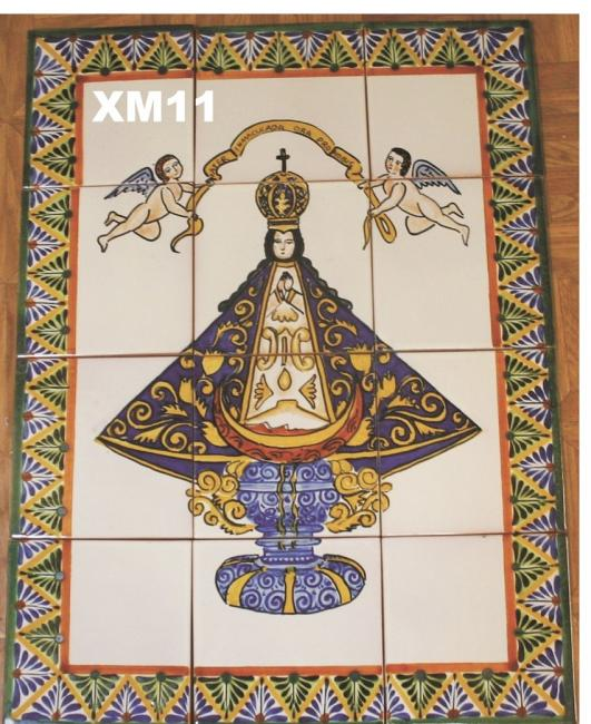 Gorky Gonzalez / GorkyPottery Virgin of San Juan<br>Wall Tiles