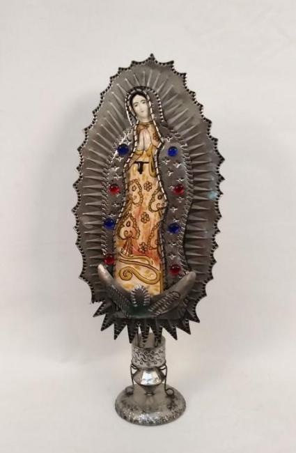 mexican ceramic mexican potttery folk art talavera Gorky Gonzalez Virgin of Guadalupe