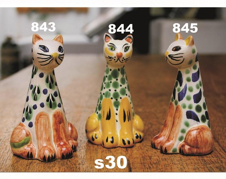 Gorky Gonzalez / GorkyPottery Cat<br>Salt & Pepper Shaker Set