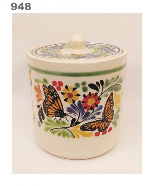 mexican ceramic mexican potttery folk art talavera Gorky Gonzalez Butterfly Ice Ceramic Base