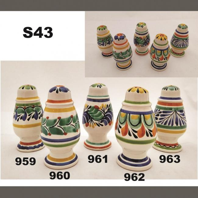 mexican ceramic mexican potttery folk art talavera Gorky Gonzalez Spinning<br>Salt and Pepper Shaker