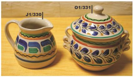 mexican pottery mexican ceramic folk art talavera Sugar & Cream Set