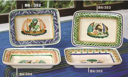 mexican pottery mexican ceramic folk art talavera Rectangular Dish Plate