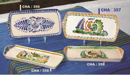 mexican pottery mexican ceramic folk art talavera Trays