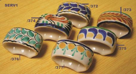 Mexican pottery mexican ceramic folk art Napking ring