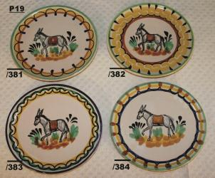 mexican pottery mexican ceramic folk art talavera Bread Plate w/donky