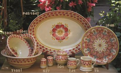 mexican pottery mexican ceramic folk art talavera Red Flower Collection 2