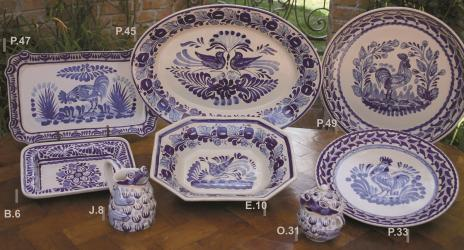 Gorky Gonzalez / Gorky Pottery Blue & White Collection