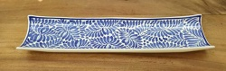 200306-10+-mexican-ceramics-blue-rectangular-plate-folk-art-hand-painted-snack-talavera-majolica-hand-made-mexico