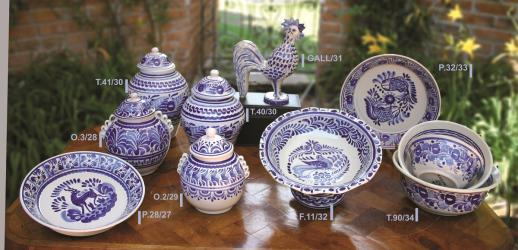 mexican pottery mexican ceramic folk art talavera Blue & White Collection 2