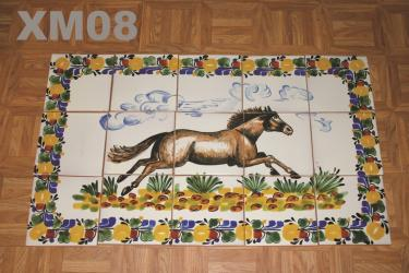 mexican ceramic mexican potttery folk art talavera Gorky Gonzalez Wall of Tiles XM08