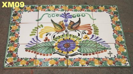 Gorky Gonzalez / Gorky Pottery Wall of Tiles<br>Love Birds