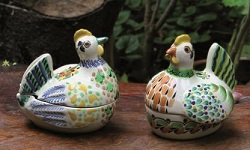 mexican pottery mexican ceramic folk art talavera Jewelry boxes Chicken