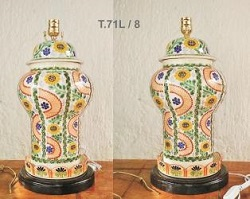 mexican pottery mexican ceramic folk art talavera Large Lamp Olan