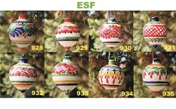 mexican pottery mexican ceramic folk art talavera Sphere Ornament