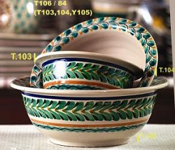 mexican pottery mexican ceramic folk art talavera Salad Bowl Set