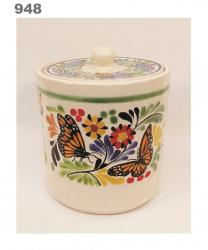 mexican pottery mexican ceramic folk art talavera Butterfly Ice Ceramic Base