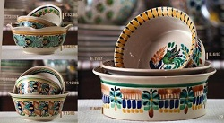 mexican pottery mexican ceramic folk art talavera Bowls Set