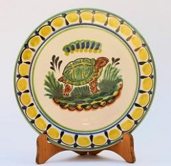mexican pottery mexican ceramic folk art talavera Turtle Dinner Plate