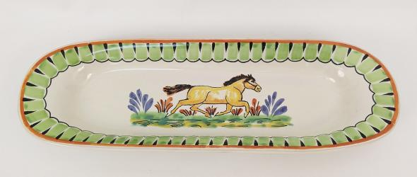 Mexican pottery mexican ceramic folk art Horse Oval Long Plate