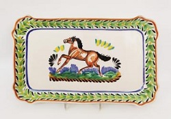 Mexican pottery mexican ceramic folk art Horse Rectangular Platter