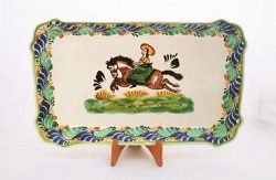 Mexican pottery mexican ceramic folk art CowGirl Rectangular Platter
