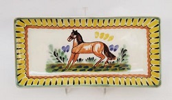 Mexican pottery mexican ceramic folk art Horse Large Rectangular Plate