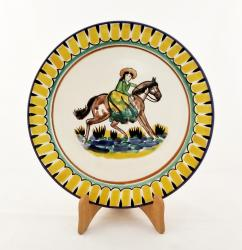 Mexican pottery mexican ceramic folk art CowGirl Dinner Plate