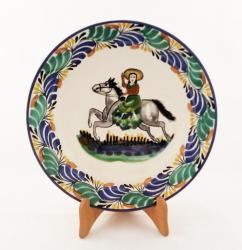 mexican pottery mexican ceramic folk art talavera CowGirl Dinner Plate