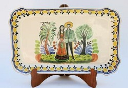 Mexican pottery mexican ceramic folk art Wedding Rectangular Platter