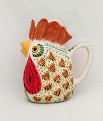 Mexican pottery mexican ceramic folk art Rooster Water Pitcher<br>MultiColors I