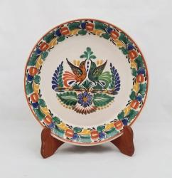 Mexican pottery mexican ceramic folk art Round Platter<br>Love Birds