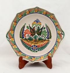 Mexican pottery mexican ceramic folk art Octagonal Platter<br>Love Birds