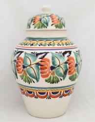 Mexican pottery mexican ceramic folk art Traditional Tibor<br>Green Colors