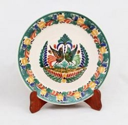 Gorky Gonzalez / Gorky Pottery Round Platter<br>Love Birds<br>Traditional Colors
