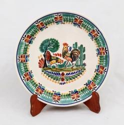 Gorky Gonzalez / Gorky Pottery Round Platter<br>Love Chickens<br>Traditional Colors