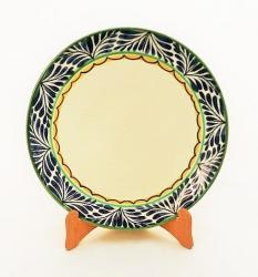 Mexican pottery mexican ceramic folk art Larde Dinner Plate<br>Blue Border