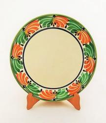 Mexican pottery mexican ceramic folk art Larde Dinner Plate<br>Green-Terracota Border
