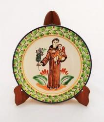 mexican pottery mexican ceramic folk art talavera Large Dinner Plate 12 in D<br>Saint Antonio
