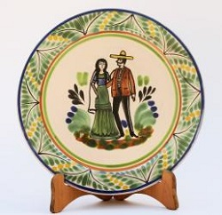 Gorky Gonzalez / GorkyPottery Large Dinner Plate 12 in D<br>Weddig
