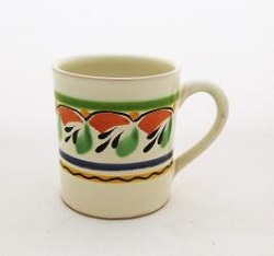 Mexican pottery mexican ceramic folk art Coffe Mug<br>14 Oz<br>Green-Red-Blue