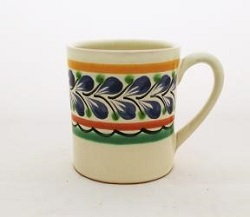 Mexican pottery mexican ceramic folk art Coffe Mug<br>14 Oz<br>Blue-Green Colors