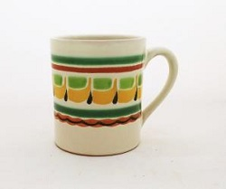 Mexican pottery mexican ceramic folk art Coffe Mug<br>14 Oz<br>Yellow-Green Colors