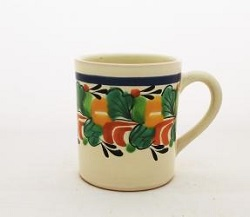Mexican pottery mexican ceramic folk art Coffe Mug<br>14 Oz<br>Traditional Border