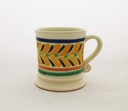 Mexican pottery mexican ceramic folk art Coffe Mug Traditional<br>14 Oz<br>Yellow-Black